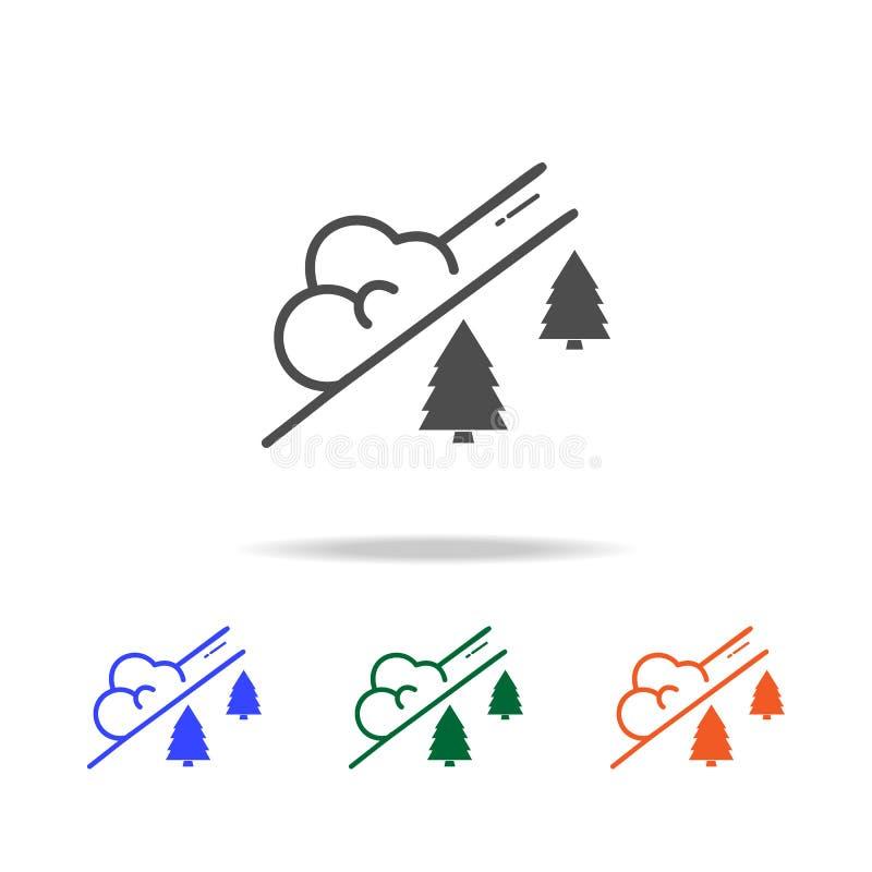 ícone da avalancha da neve Elementos de feriados do Natal em multi ícones coloridos Ícone superior do projeto gráfico da qualidad ilustração stock