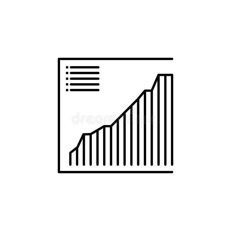 ícone da avaliação Elemento do ícone popular da finança Projeto gráfico da qualidade superior Sinais, ícone para Web site, desi d ilustração stock
