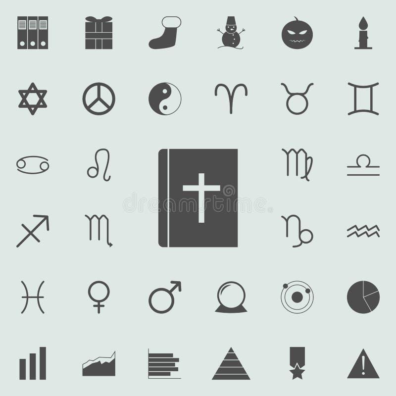 Ícone da Bíblia Grupo detalhado de ícones minimalistic Sinal superior do projeto gráfico da qualidade Um dos ícones da coleção pa ilustração stock