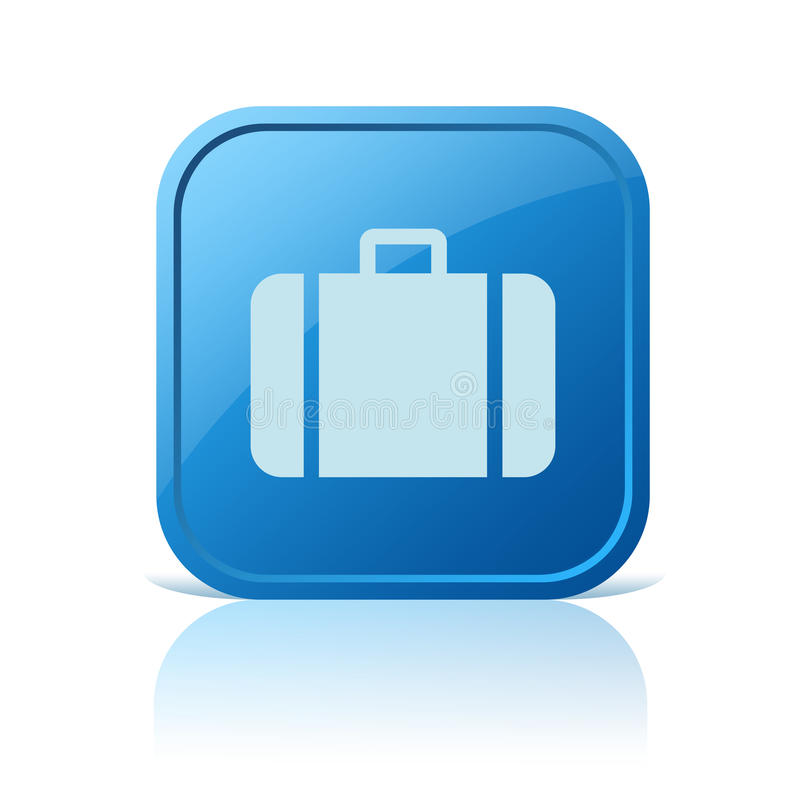 Ícone da bagagem ilustração royalty free