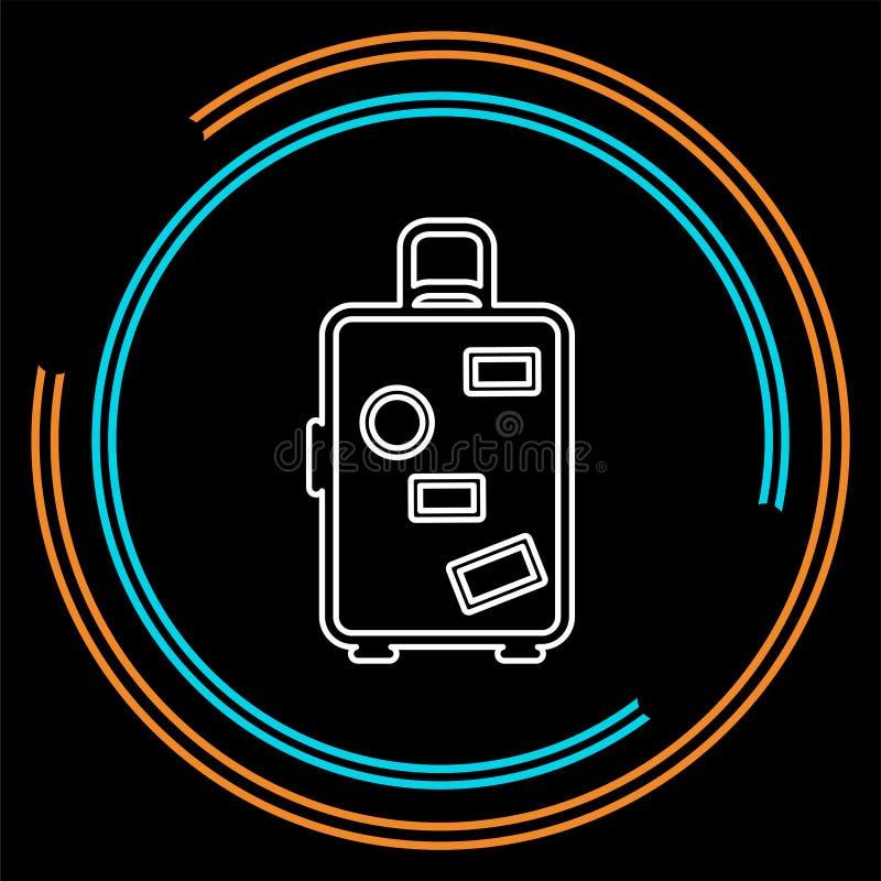 Ícone da bagagem do curso - mala de viagem do curso ilustração do vetor