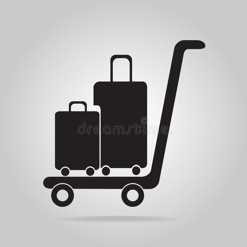 Ícone da bagagem e do carro, ilustração royalty free