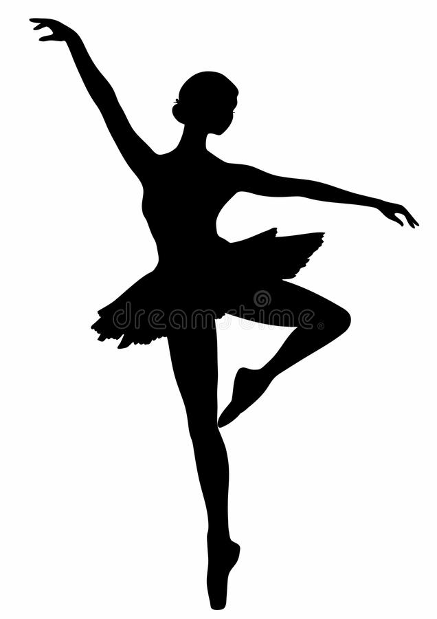 Ícone da bailarina ilustração do vetor