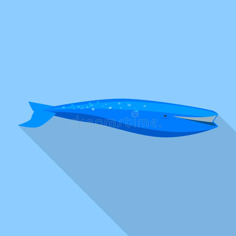 Ícone da baleia azul, estilo liso ilustração do vetor