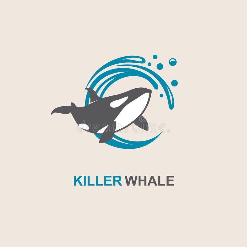 Ícone da baleia de assassino ilustração royalty free