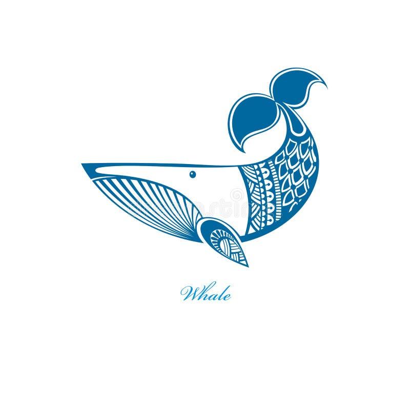 Ícone da baleia do divertimento ilustração do vetor