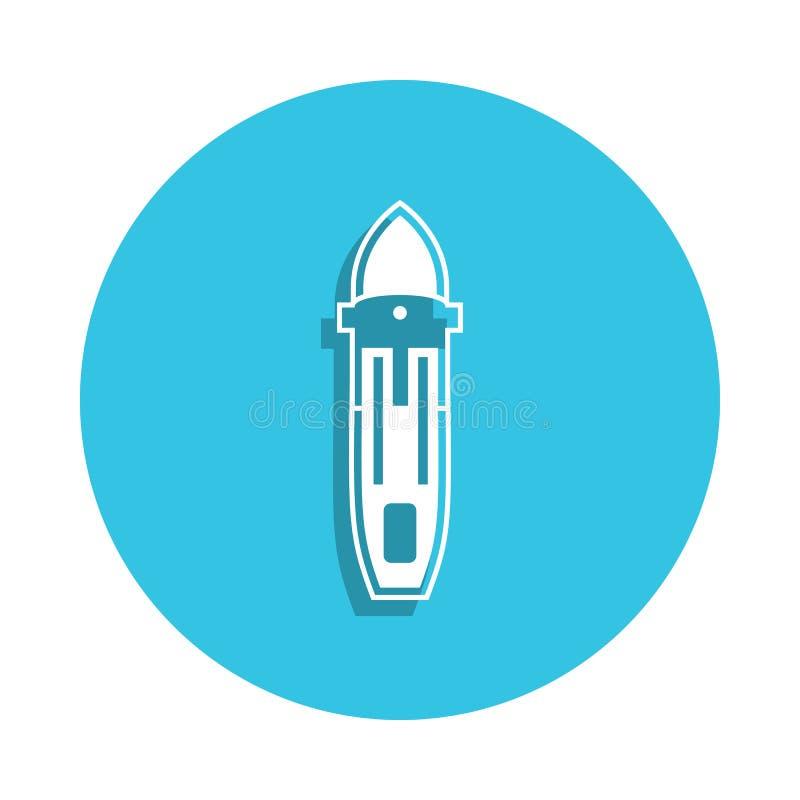 ícone da balsa do mar no estilo do crachá Um do ícone da coleção dos navios pode ser usado para UI, UX ilustração do vetor