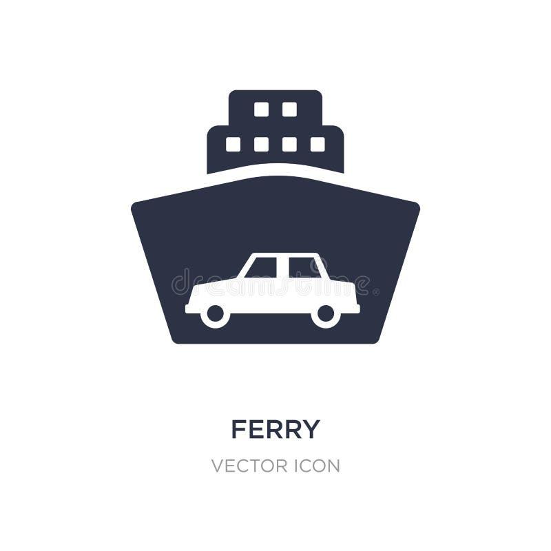 ícone da balsa no fundo branco Ilustração simples do elemento do conceito do transporte ilustração stock