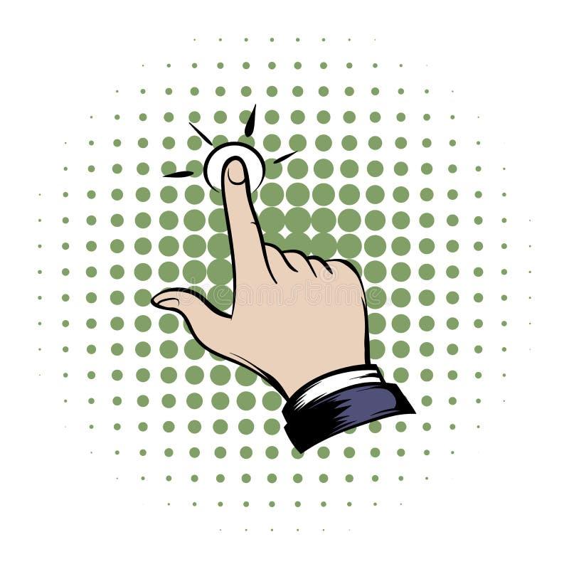 Ícone da banda desenhada da mão do clique ilustração royalty free