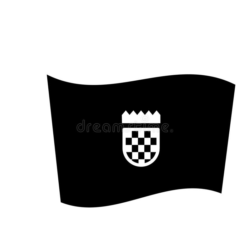 Ícone da bandeira da Croácia  ilustração royalty free