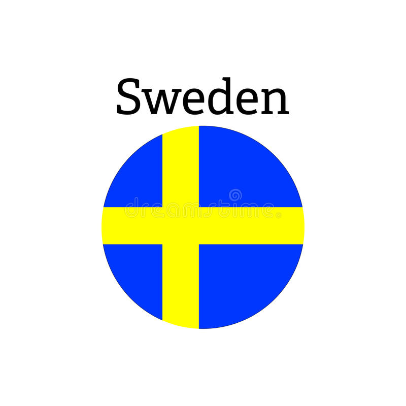 Ícone da bandeira da Suécia foto de stock royalty free