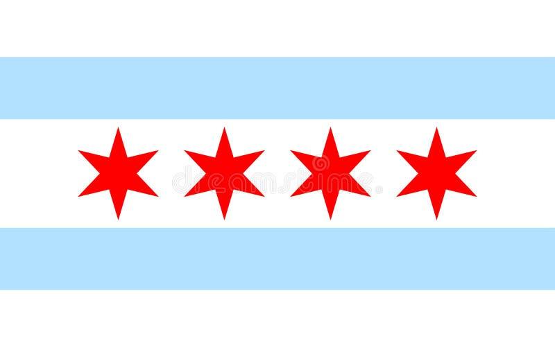 Ícone da bandeira de Chicago ilustração royalty free