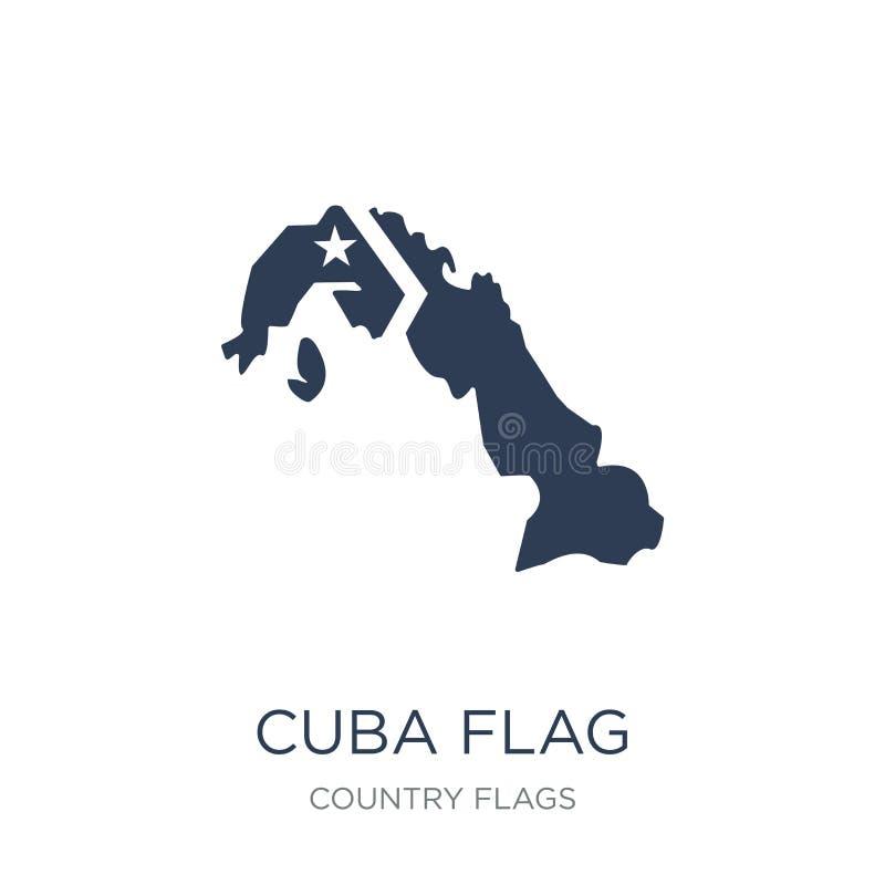 Ícone da bandeira de Cuba  ilustração royalty free