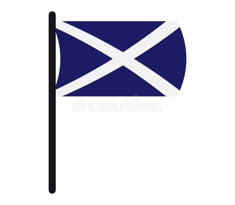 Ícone da bandeira de Escócia ilustrado ilustração royalty free