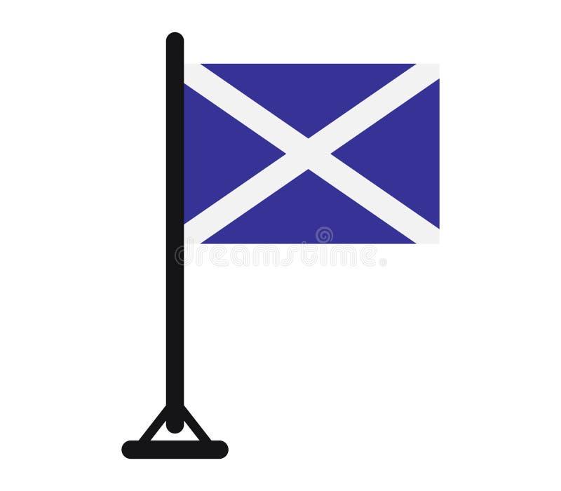 Ícone da bandeira de Escócia ilustrado ilustração stock