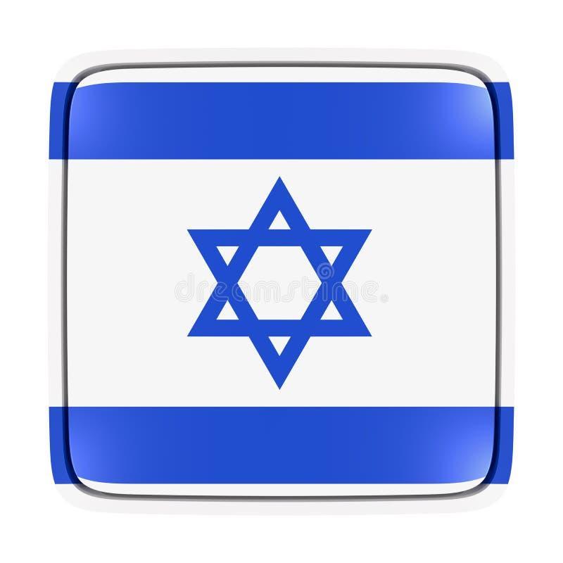 Ícone da bandeira de Israel ilustração stock
