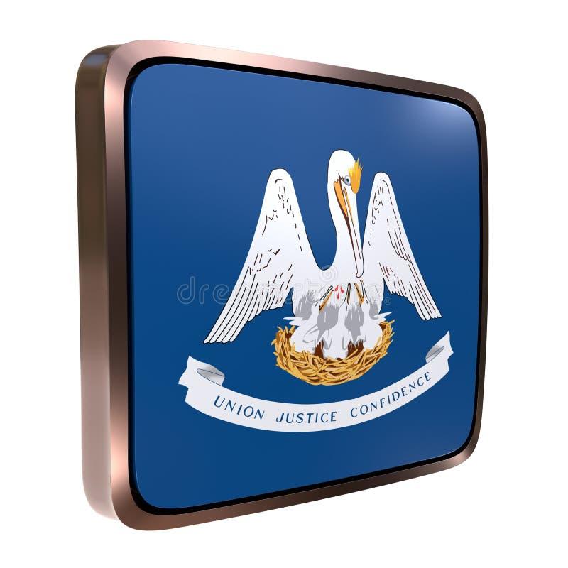 Ícone da bandeira de Louisiana ilustração stock