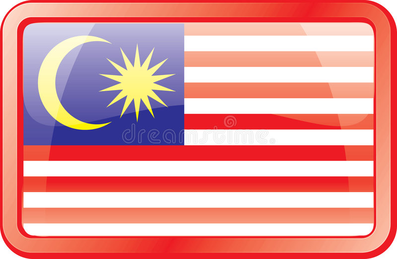 Ícone da bandeira de Malaysia ilustração royalty free