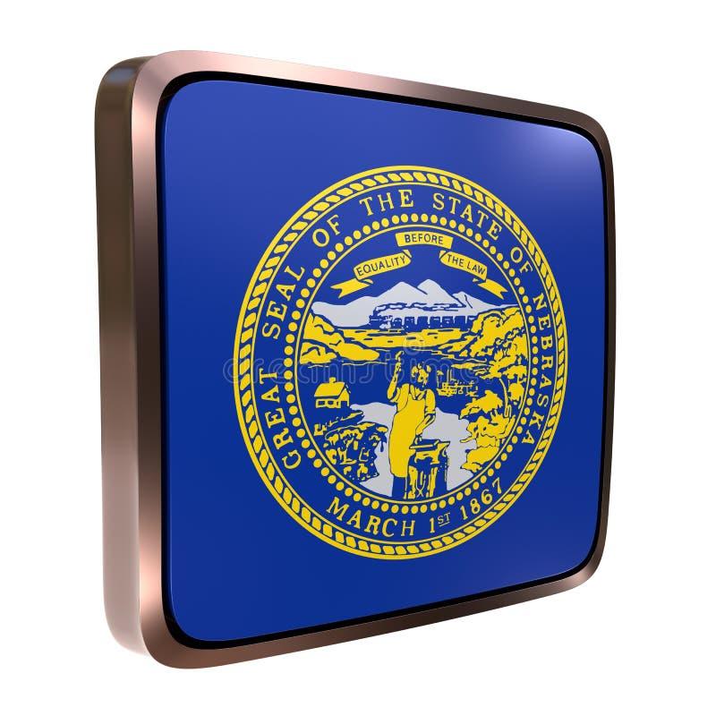 Ícone da bandeira de Nebraska ilustração do vetor
