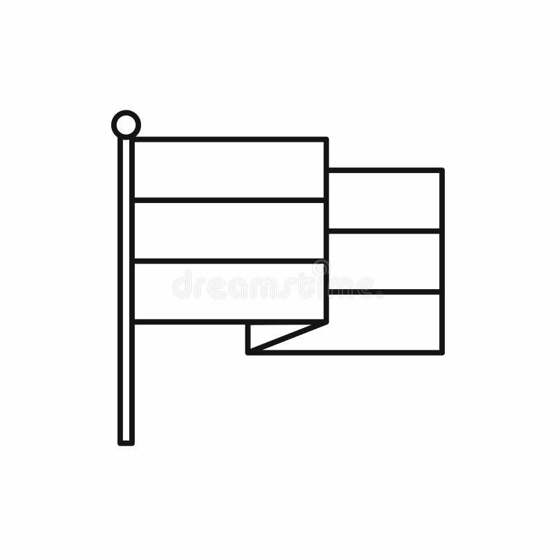 Ícone da bandeira de Rasta, estilo do esboço ilustração royalty free