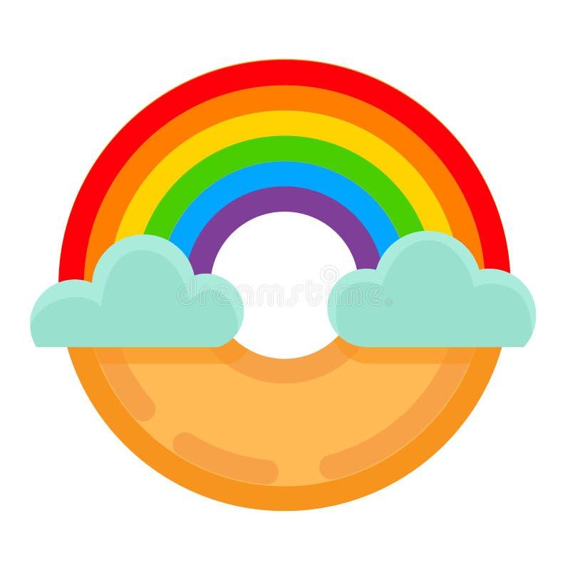 Ícone da bandeira do lgbt da filhós do arco-íris ilustração royalty free
