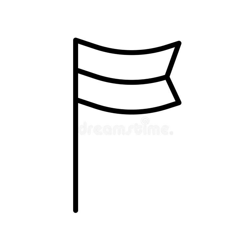 Ícone da bandeira do lugar isolado no fundo branco ilustração do vetor