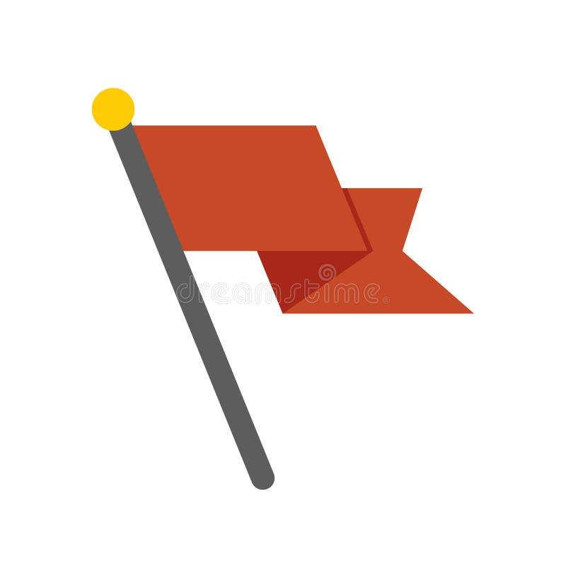 Ícone da bandeira do vetor - símbolo do elemento da bandeira Ilustração lisa isolada no fundo branco ilustração stock
