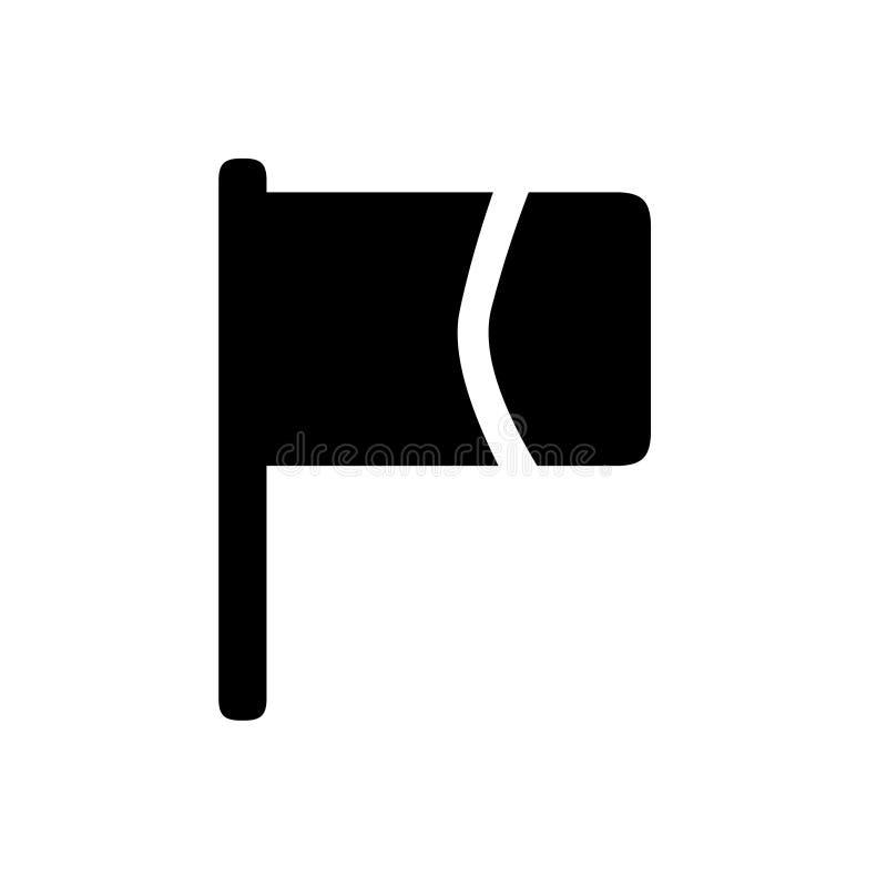 Ícone da bandeira, molde do projeto do logotipo ilustração royalty free