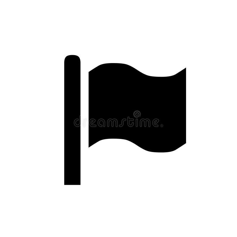Ícone da bandeira, molde do projeto do logotipo ilustração stock