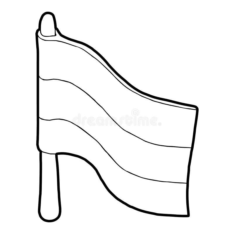 Ícone da bandeira no estilo do esboço ilustração royalty free