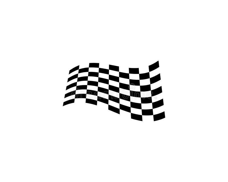 Ícone da bandeira da raça, logotipo da bandeira da raça do projeto simples ilustração do vetor