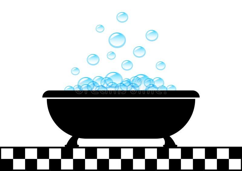 Ícone da banheira ilustração royalty free
