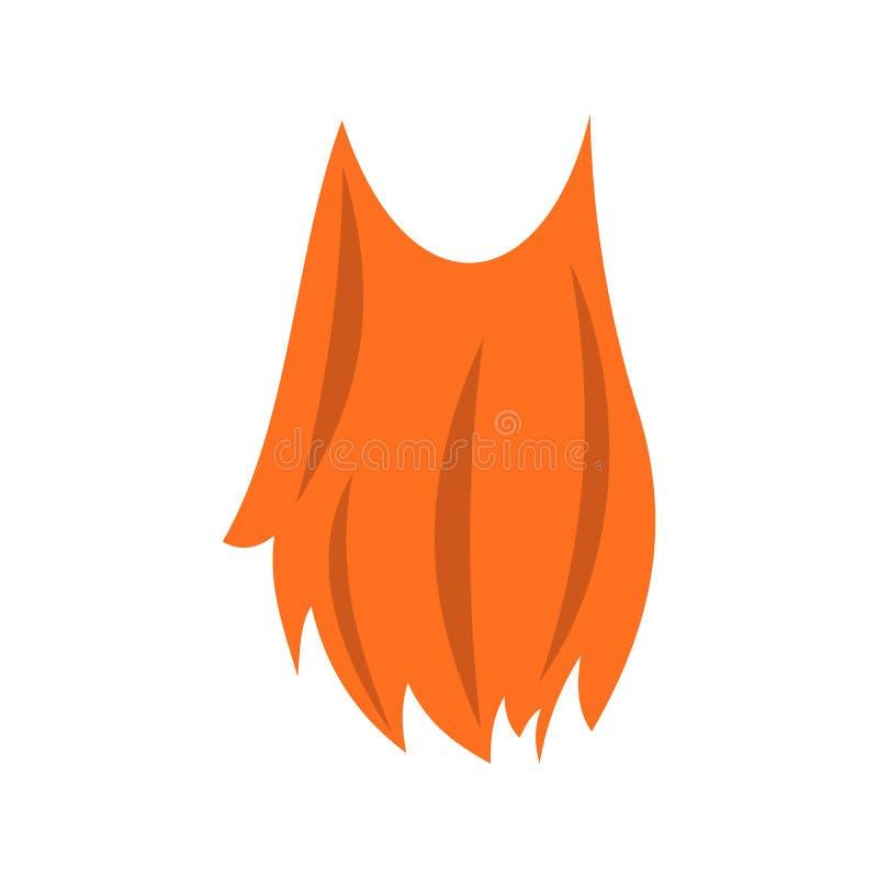 Ícone da barba do duende ilustração do vetor