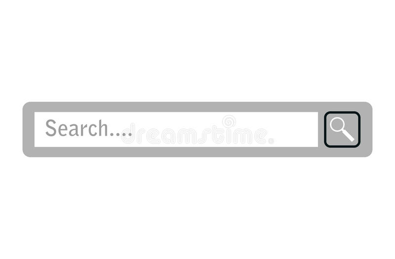 Ícone da barra da otimização do Search Engine ilustração do vetor