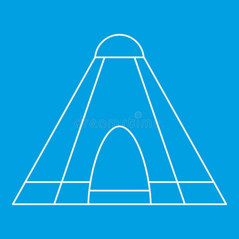 Ícone da barraca da tenda, estilo do esboço ilustração do vetor