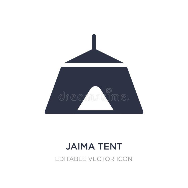 ícone da barraca do jaima no fundo branco Ilustração simples do elemento do conceito do curso ilustração stock