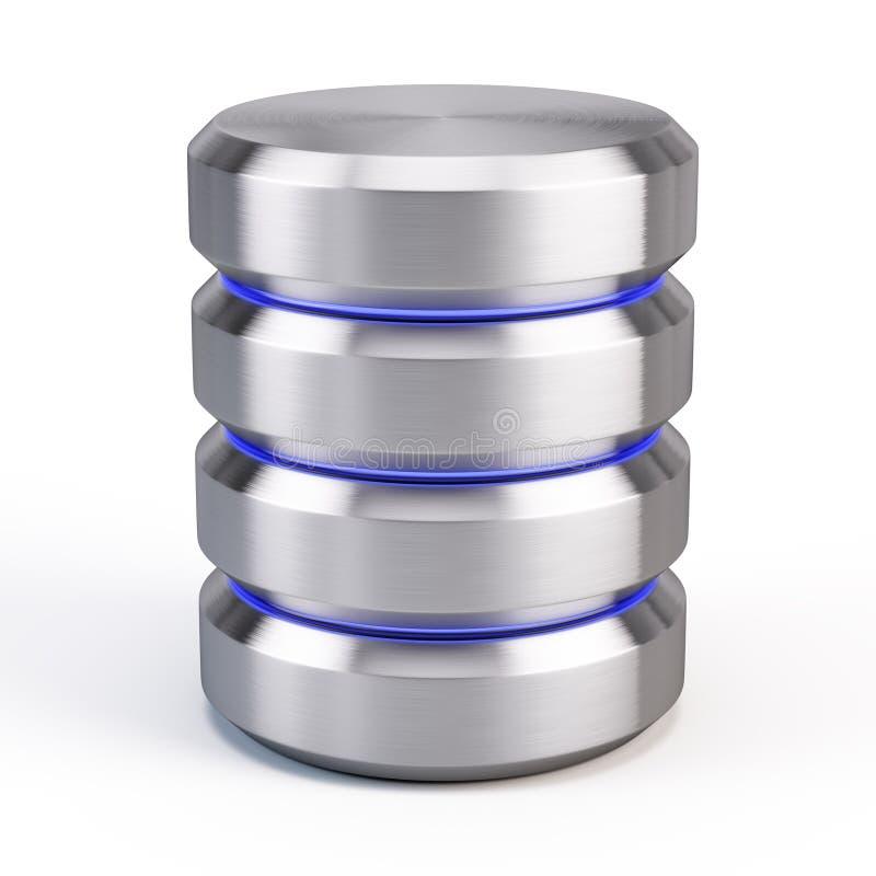 Ícone da base de dados ilustração stock