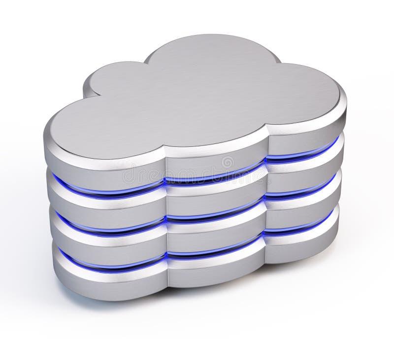 Ícone da base de dados da nuvem ilustração royalty free