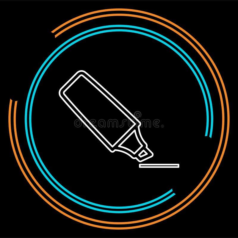 Ícone da base do marcador ilustração do sinal ilustração do vetor