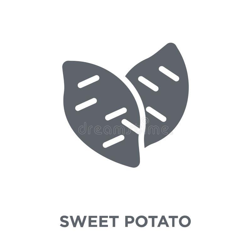 Ícone da batata doce da coleção das frutas e legumes ilustração royalty free