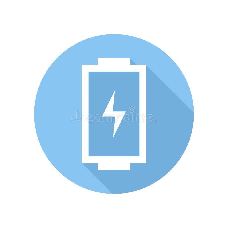 Ícone da bateria com nível da carga Sinal e símbolo ilustração stock
