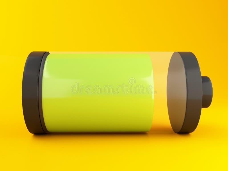 ícone da bateria 3d ilustração stock