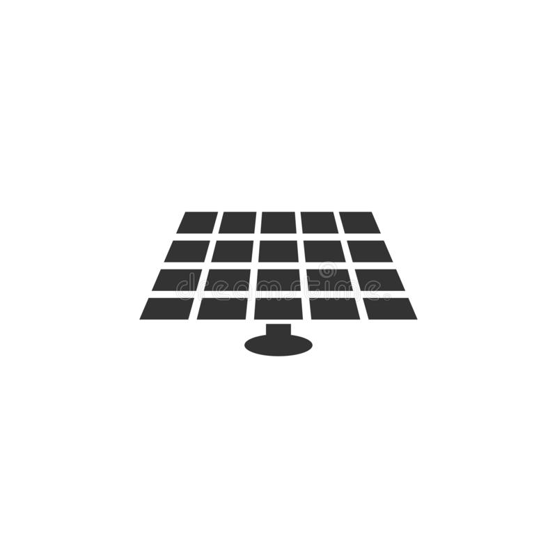 Ícone da bateria solar no projeto simples Ilustração do vetor ilustração do vetor