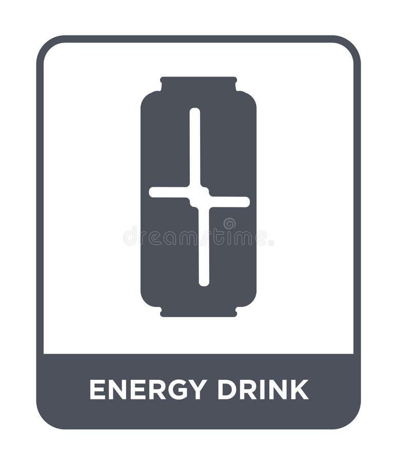 ícone da bebida da energia no estilo na moda do projeto ícone da bebida da energia isolado no fundo branco ícone do vetor da bebi ilustração royalty free