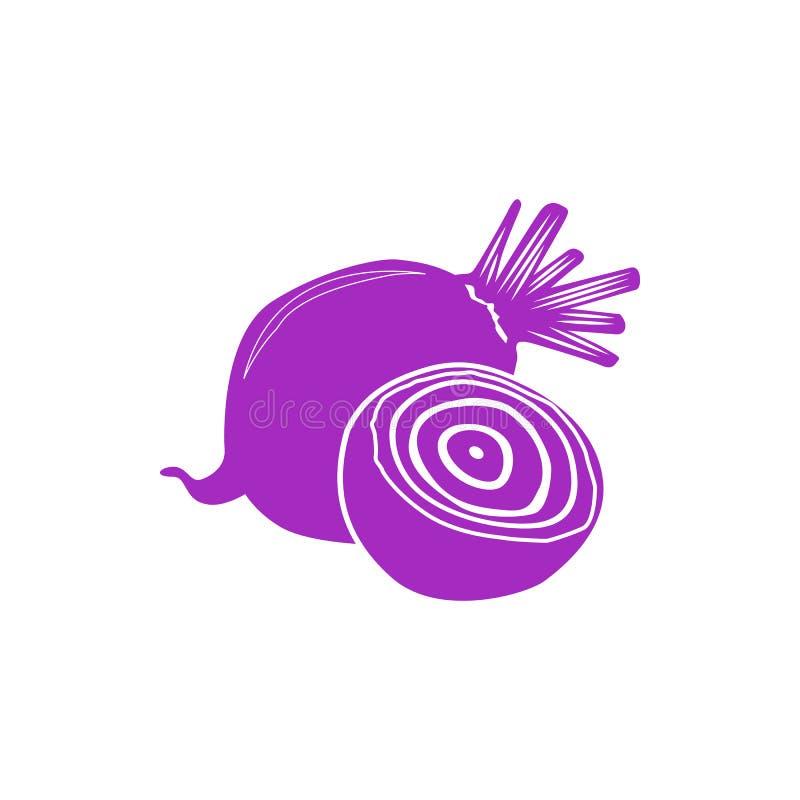 Ícone da beterraba, estilo simples ilustração stock