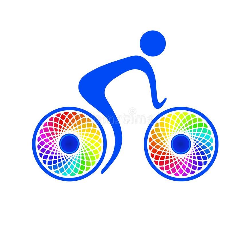 Ícone da bicicleta fotografia de stock