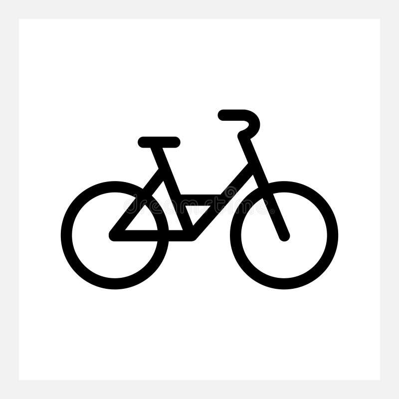 Ícone da bicicleta da cidade ilustração royalty free