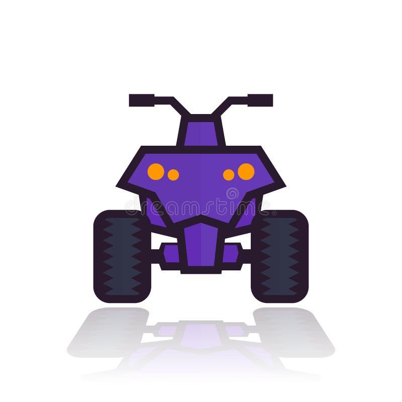 Ícone da bicicleta do quadrilátero ilustração royalty free