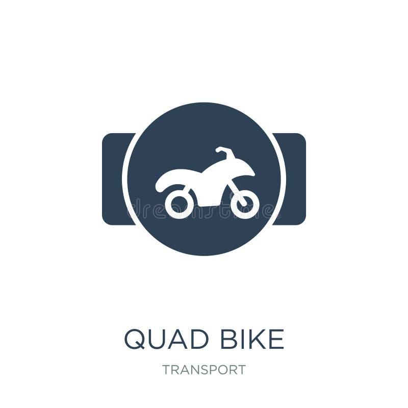 ícone da bicicleta do quadrilátero no estilo na moda do projeto ícone da bicicleta do quadrilátero isolado no fundo branco plano  ilustração royalty free