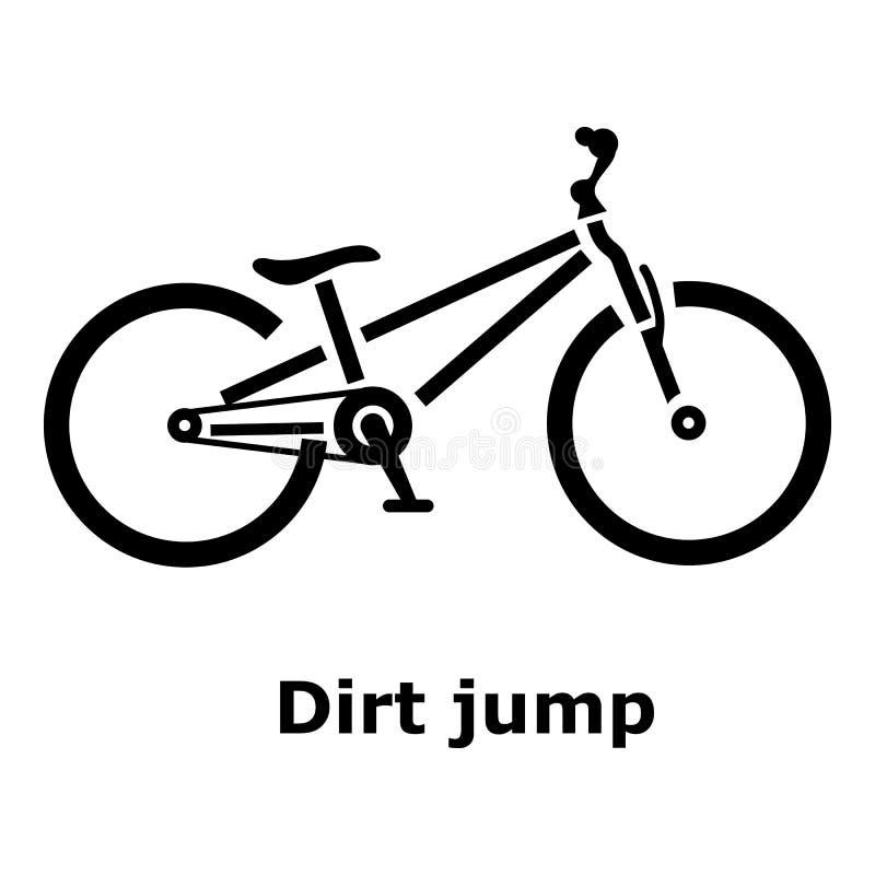 Ícone da bicicleta do salto da sujeira, estilo simples ilustração do vetor